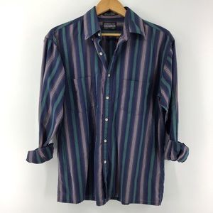 Members Only | Striped Button Up Shirt